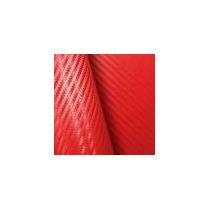 Envelopamento Fibra Carbono 3d Vermelha 1,00x1,22