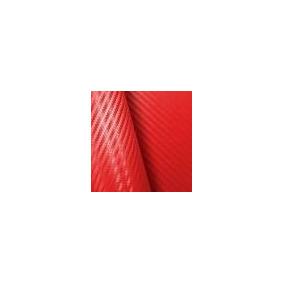 Envelopamento Fibra Carbono 3d Vermelha 0,50 X 1,38
