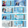 50 Convites Infantil Frozen Ingresso + Envelopes E Adesivos