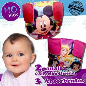 Combo A Pañales Ecologicos Mo Kids 2 Diseños Y 3 Absorbentes