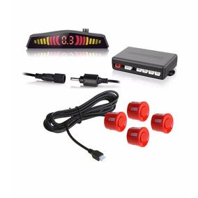 Sensor Estacionamento Ré Gol G5 4 Ponto Vermelho Display