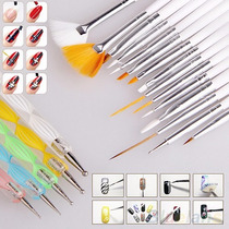 Kit X 20 - 15 Pinceles + 5 Dotting Uñas Nail Art