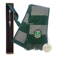 Slytherin Bufanda + Varita Narcissa Malfoy Caja Harry Potter