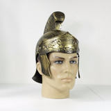 Capacete Gladiador Dourado Luxo / Capacete Romano Dourado