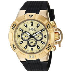 3def510c507 Relógio Invicta Mens Gold 14589 - Relógios De Pulso no Mercado Livre ...
