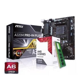 Kit Actualización Amd A6 9500 + Msi A320 Am4 + Ddr4 4gb 2400
