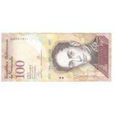 100 Bolívares, Serie Aa Del 29-10-2.013