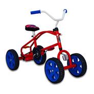 Cuatriciclo A Pedal Con Cadena Antivuelco Infantil Mipong