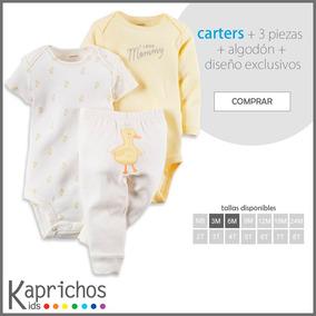Set 3 Piezas Con Bodies Carters Original Para Niño