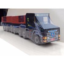 Caminhão Scania Madeira Bi-trem Infantil