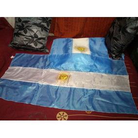 Pack 50 U ,bandera De Argentina, 1,30 X 65 Cm, Tela, Tafeta