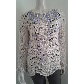 Sweater Pulover Artesanal Tejido A Mano Mujer
