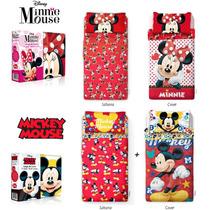 Combo Cover + Sabanas Infantil Disney 1 1/2 Plaza Original