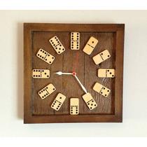 Relógio De Parede Decorativo Dominó 39x39cm 717