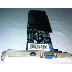 Placa De Video Agp Geforce Mx4000 128mb Ddr Tv