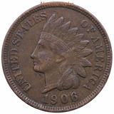 Moneda 1 Centavo Cabeza De Indio 1906 Indian Head Cent Eu
