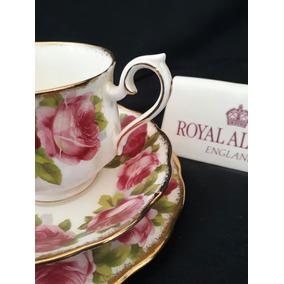Royal Albert Trio Xícara De Chá Old English Rose