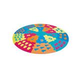 Alfombra De Puzzle Circular. 93 Piezas. Dactic