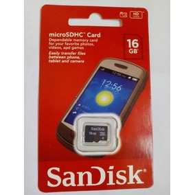 Cartão De Memória Sd Sandisk Original 16gb Pronta Entrega