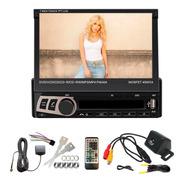 Stereo Pantalla Rebatible Tactil Bluetooth Dvd + Camara