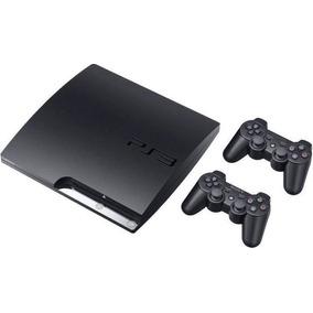 Playstation 3 Ps3 Slim 160g + Gta 5 + 39 Jogos + 2 Controles
