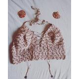 Top Corpiño Crochet Bikini Tejida