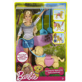 Barbie Entrenadora De Perro Camina Y Hace Popo Nueva Mattel