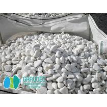 Piedra De Río Hecha Con Mármol Blanco Ideal Para Decorar