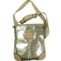 Bolsa Coach Metallic Swingpack Silver-gold E Femenino