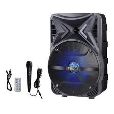 Parlante Tedge Tk-86 Portátil Con Bluetooth Negro 110v/220v