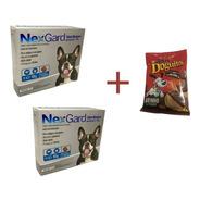 Kit 2 Comprimidos Nexgard 4 A 10 Kg Mais Doguitos Carne 65g