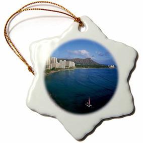 3drose Orn_89586_1 Rainbow, Diamond Head, Waikiki, Oahu, ...