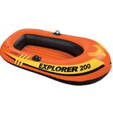 Bote Inflable Intex Explorer 200 Gomon Con Inflador Y Remo