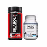 Dilabol Vasodilatador 120 Cáps + Ph20 60 Cáps Pró Hormonal