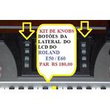 Par Knobs Botões Da Lateral Do Lcd Do Roland E50 / E60 Novos