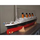 Surpreendente Papercraft Lendario Navio Titanic Escala 1:200