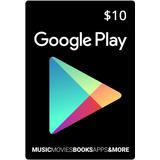 Tarjeta Google Play Card Usd10 Play Store Codigo Digital