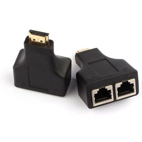 Adaptador Hdmi A Ficha Rj45 Hasta 30 Mts Cable Cat 5e/6