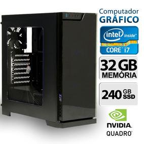 Computador Gráfico Quadro K2200 4gb, Core I7, 32gb, Ssd, W10