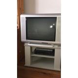 Televisor A Tubo 29 Pantalla Plana, Impecable Con Mesita