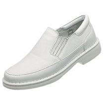 Sapato Masculino Branco Profissional Saude Frete Grátis Cour