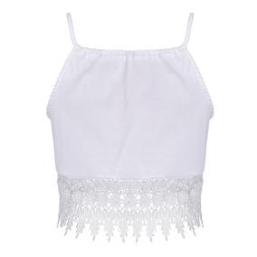 Blusa Cropped Maravilhosa Branca Promoção