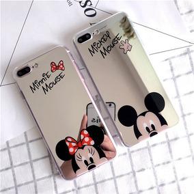 Funda Case Espejo Mickey Minnie Tpu Iphone 6 6s 7 Plus Envio