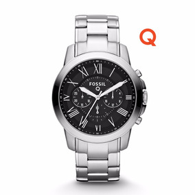 Q Grant Chronograph Stainless Steel Watch-fossil