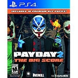 Pay Day 2 The Big Score Ps4 Fisico Sellado Original !!!