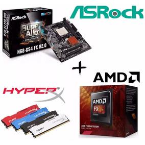 Kit Proc Amd Fx6300 + Asrock N68-gs4 R2.0 + Mem 8gb Hyperx
