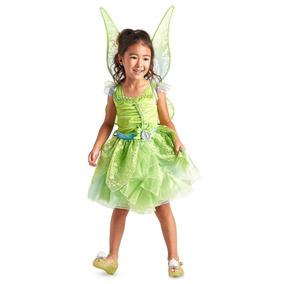Vestido Princesa Sininho Com Asa Orig.disney Store P/entrega