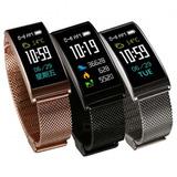 Reloj Smart Watch Pulsera Inteligente Ritmo Cardiaco Acero