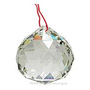 Bola Cristal Asfour Esfera Feng Shui 4,0 Cm Lustres Com Fio