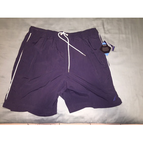 Pantalón De Baño Náutica Talla L De Usa (nuevo) Color Azul